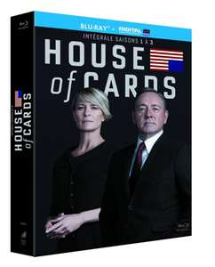 Coffret Blu-ray House of Cards - Intégrale saisons 1 à 3 (+ Copie digitale)