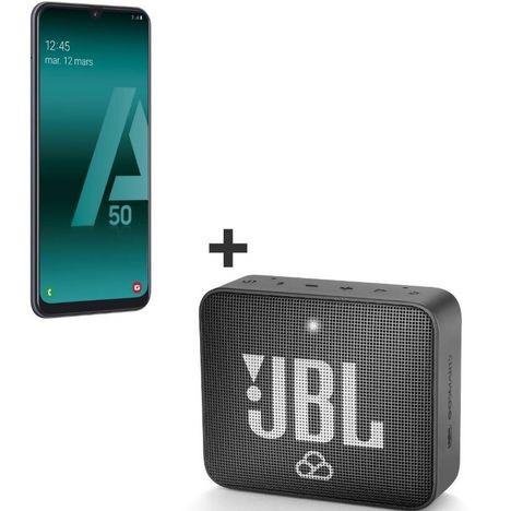 "Smartphone 6.4"" Samsung Galaxy A50 - 128 Go + Mini Enceinte Sans-fil JBL 2 Go"