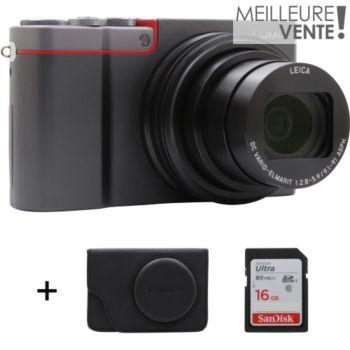 Appareil photo Panasonic Lumix DMC-TZ101 + Etui + Carte SD Sandisk Ultra16 Go (via ODR 50€)