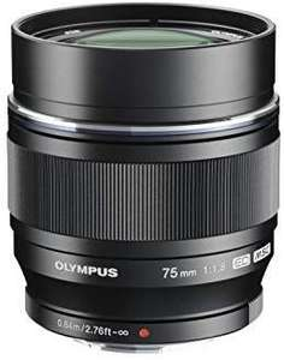 Objectif pour appareil photo Olympus M.ZUIKO Digital ED - 75 mm, f:1.8, Noir