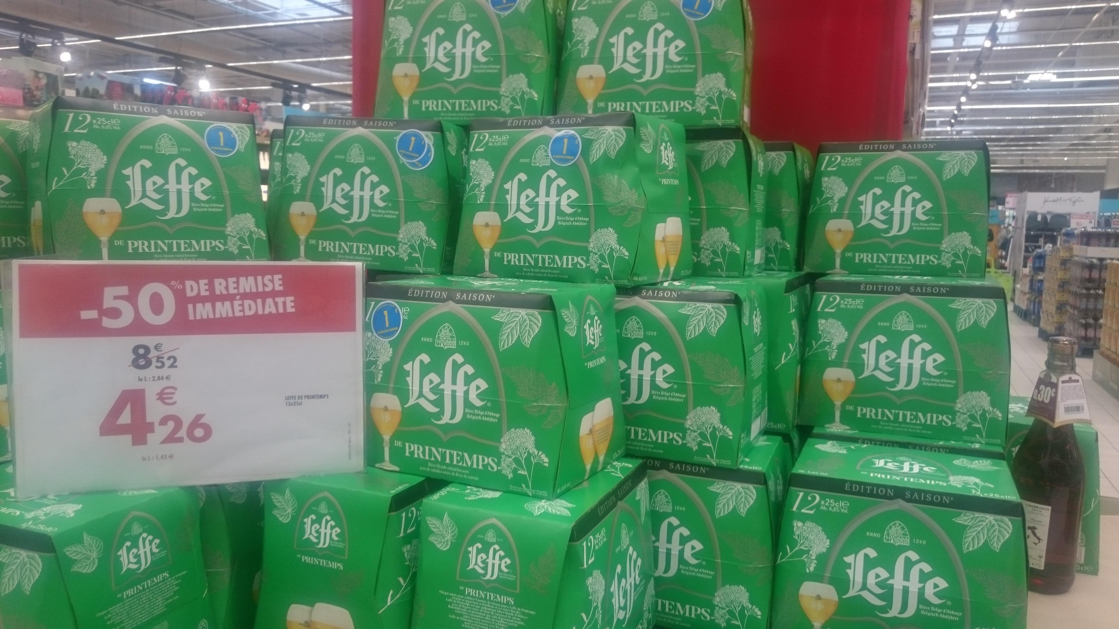 Pack de 12 bières Leffe - 12 x 25 cl (Carrefour Rambouillet 78)