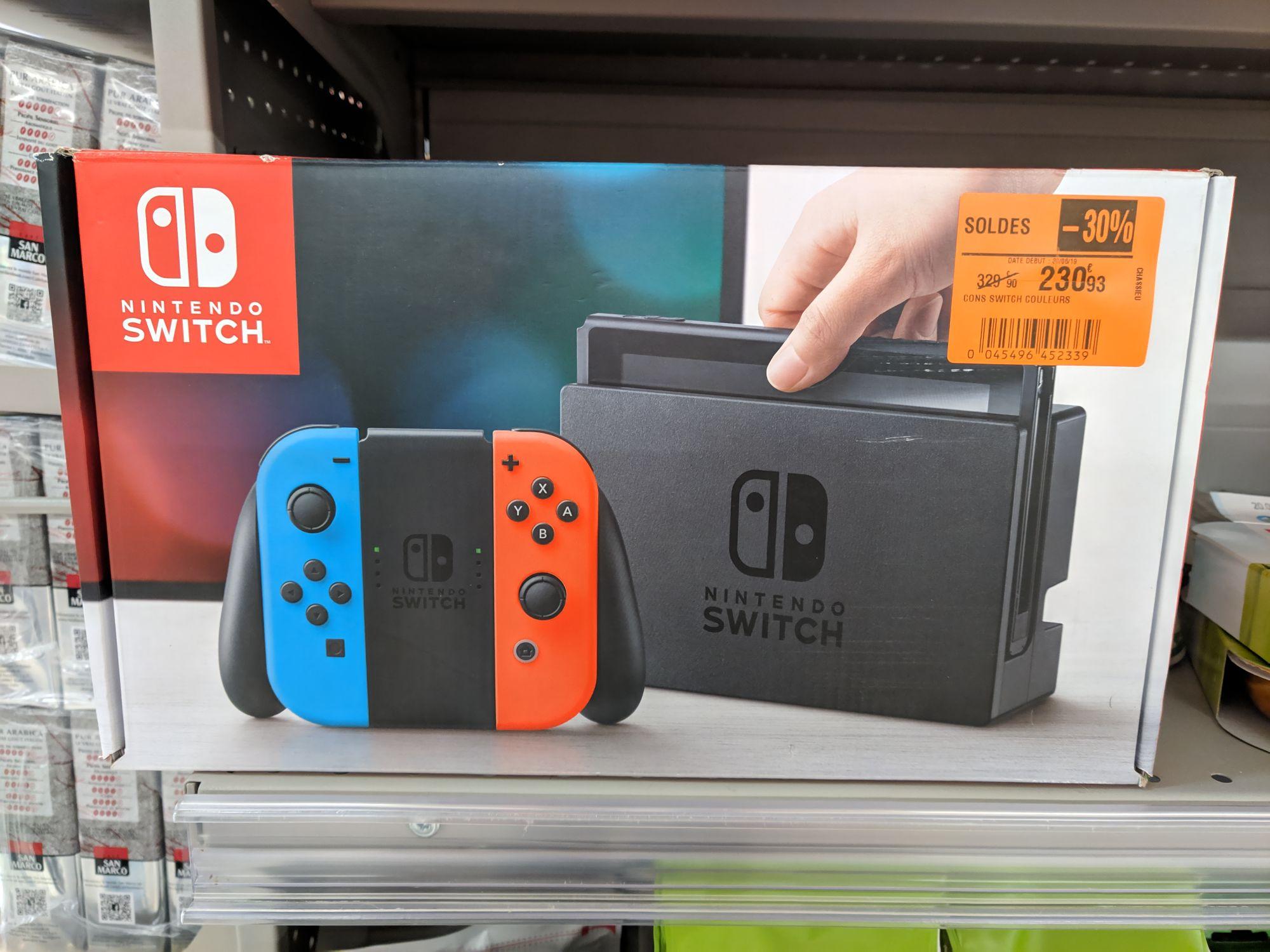 Console Nintendo switch avec Joy-Con rouge et gris (Chassieu 69)