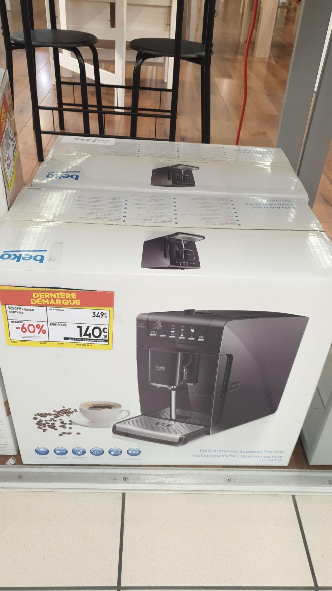 Machine à expresso automatique avec broyeur de grains Beko Latte MaxiPack CEG7425B (15 bars, 1550 W) - Vitry-sur-Seine (94)