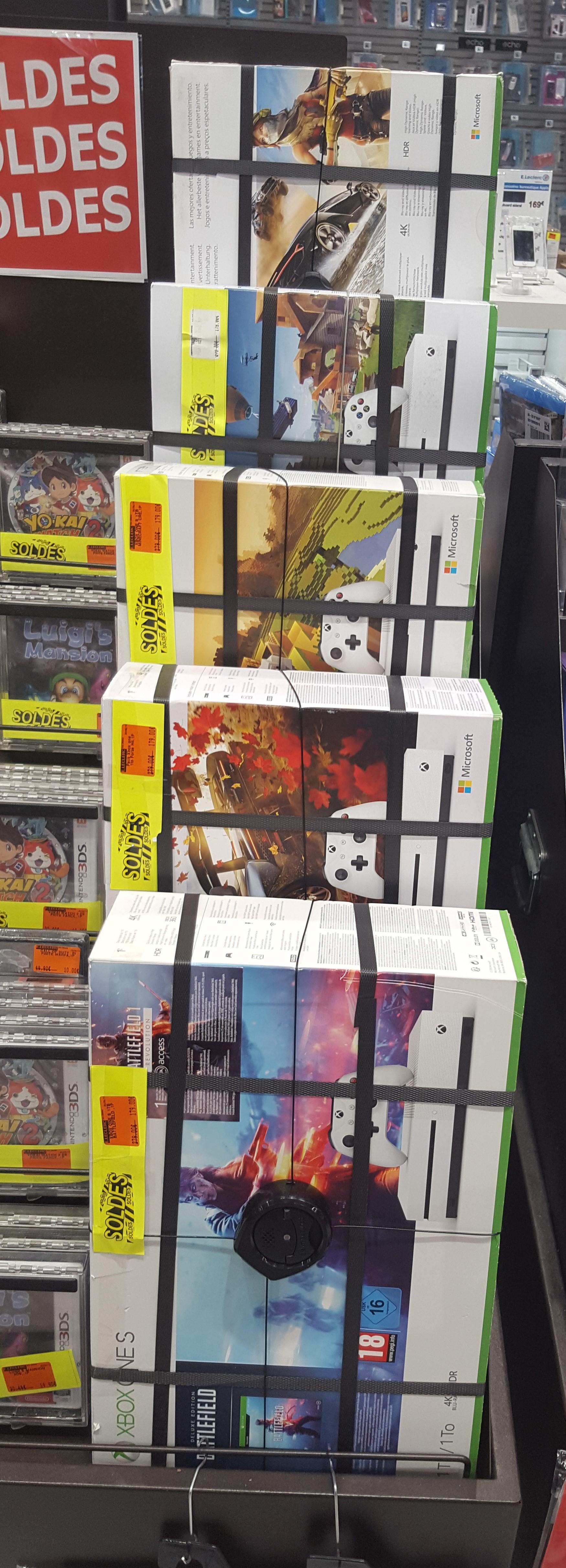 Sélection de Packs console Microsoft Xbox One S (1 To) + 1 jeu - Terville (57)