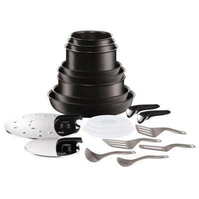 Batterie de cuisine Tefal Ingenio Performance - 20 pièces, tous feux dont induction, noir