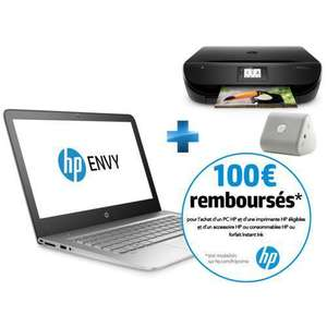 "Pc Portable 13.3"" Hp Envy 13-D001NF (Full HD, i5, SSD 128 Go)   + imprimante envy 4522 + enceinte bluetooth mini roar  (Via ODR 100€)"