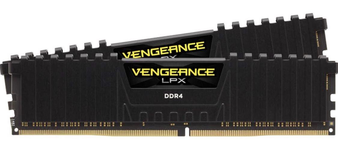 Kit mémoire RAM Corsair Vengeance LPX - 32 Go (2x16 Go), DDR4, 3200MHz C16, Noir