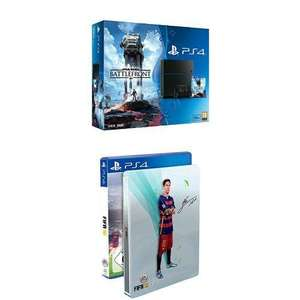 Console Sony PS4 500 Go + Star Wars Battlefront + FIFA 16 Edition Steelbook