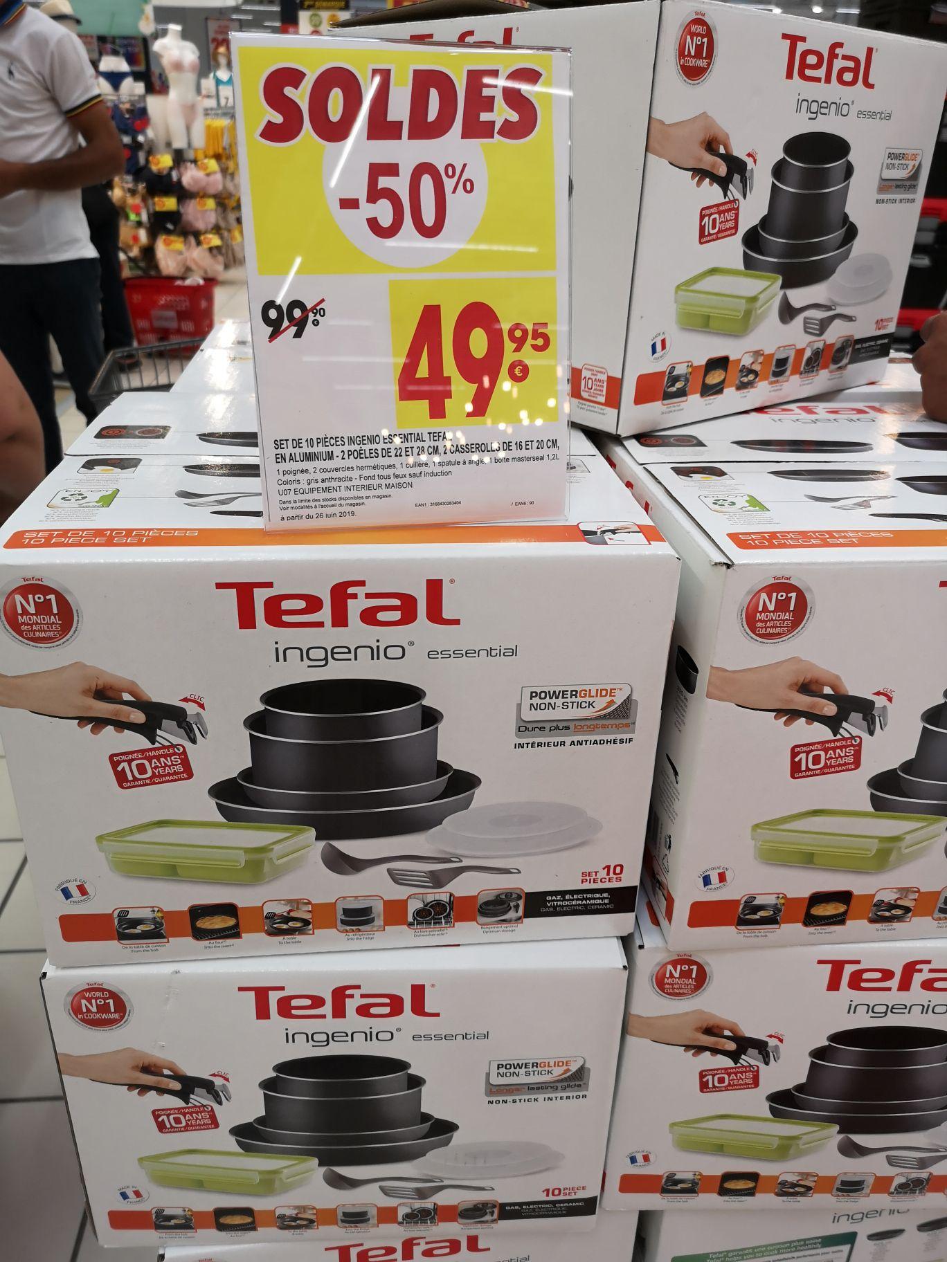 Batterie de cuisine Tefal Ingenio Essential 10 pièces (tous feux sauf induction) - Saint-Etienne (42)