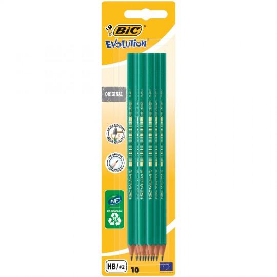 Sélection de fournitures scolaires en Promotion - Ex: Lot de 10 crayons Graphite HB Bic  (Via 0,50 € sur la carte de Fidélité)