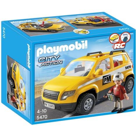 Jeu de construction Playmobil City Action - Chef de chantier et véhicule d'intervention (5470)