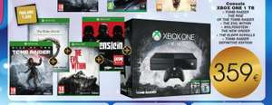Pack Console Microsoft Xbox 1 To  + TR The Rise + TR Définitive Edition + Wolfenstein + The Elder + The Evil Within