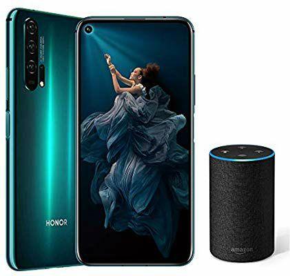 "Smartphone 6,26"" Honor 20 Pro - Kirin 980, 8 Go de RAM, 256 Go de Stockage + Amazon Echo 2ème Gen - Tissu Anthracite"
