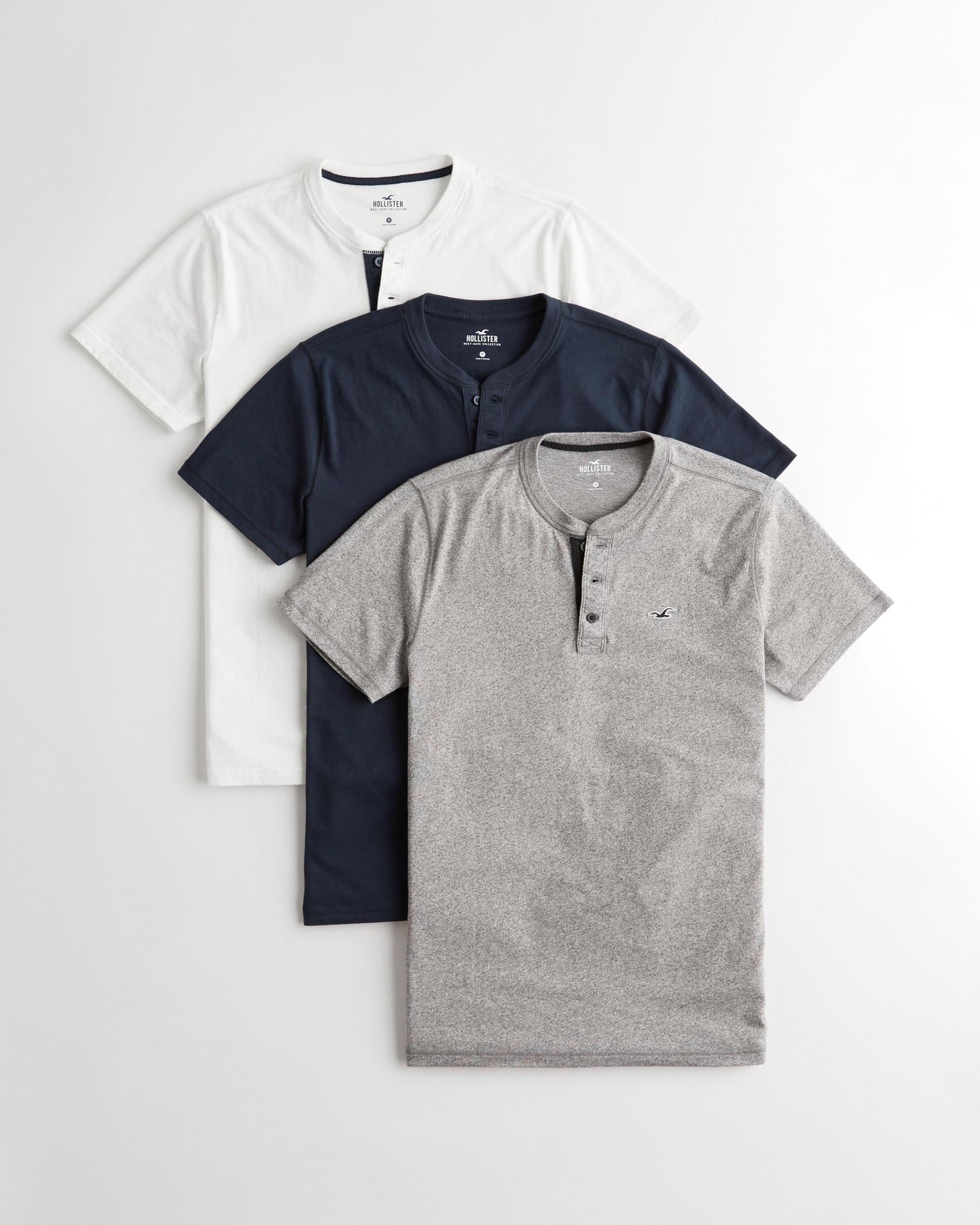 Lot de 3 t-shirts à col boutonné indispensables - Taille XS