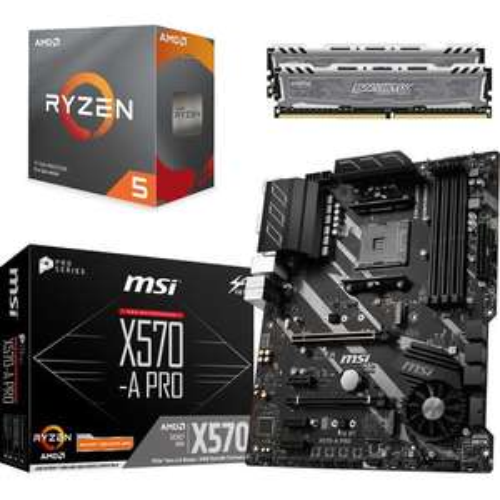 Processeur AMD Ryzen 5 3600 + Carte mère MSI X570-A PRO - Socket AM4 + 16 Go RAM DDR4 (2 x 8 Go) + 3 mois d'abonnement Xbox Game Pass