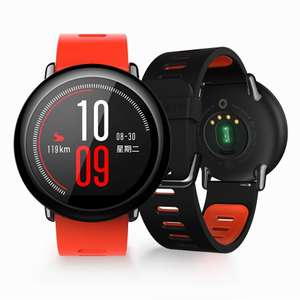 "Montre connectée Xiaomi Huami Amazfit Pace (Version Internationale) - Écran 1.34"", RAM 512 Mo, ROM 4 Go (Noir ou Rouge)"
