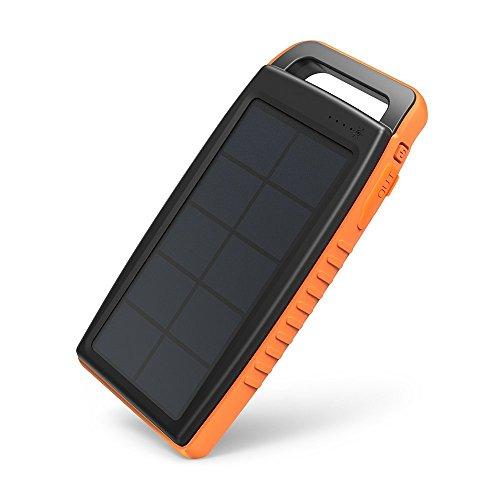 Chargeur Solaire Portable RAVPower - 15000mAh, 2 méthodes de recharge, 2 USB 2.1A, iSmart, LED (Vendeur tiers)