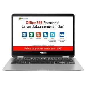 "PC Portable Tactile 14"" Asus VivoBook TP401MA-EC725TS - FHD, Intel Pentium Silver N5000 , 4 Go de RAM, 64 Go, Windows 10"