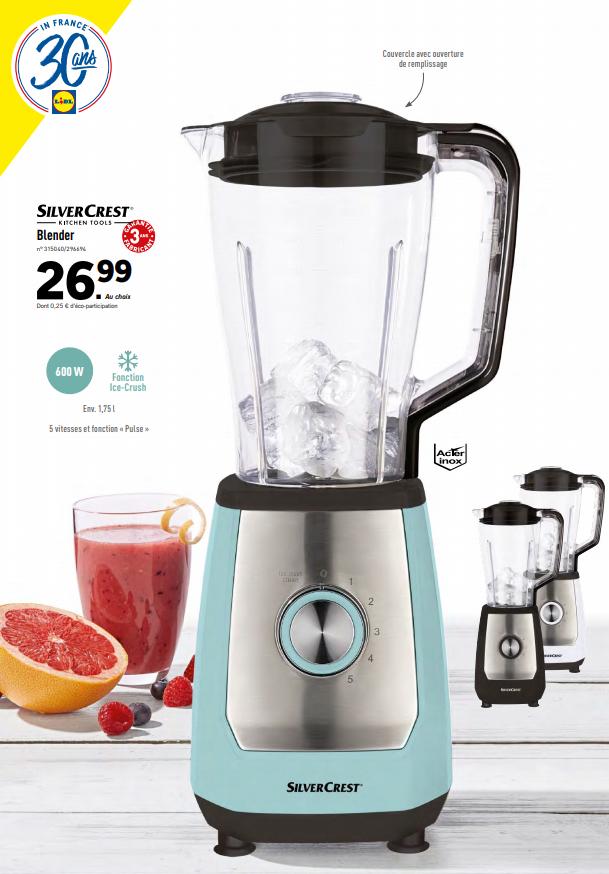 Blender SilverCrest 1,75L, 600W (via coupon de 4€)