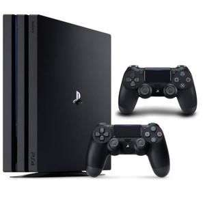 Pack Console Sony PS4 Pro 1 To (Noire) + Manette DualShock 4 V2 (Noire)