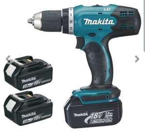 Pack Perceuse visseuse Makita DDF453SFE3 - 18 V Li-Ion 3 Ah Ø 13 mm + 3 batteries + Malette