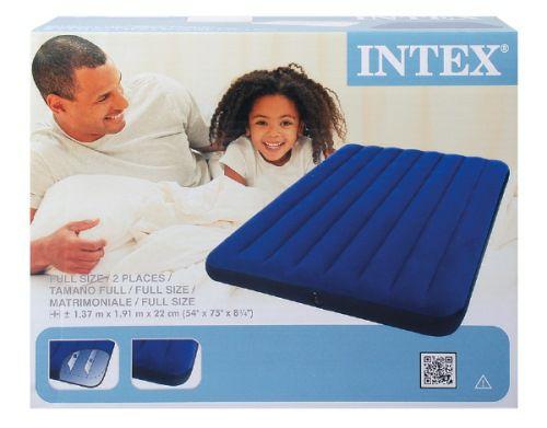 Matelas pneumatique Intex - 2 personnes, 137x191x22 cm