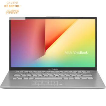 "PC Portable 14"" Asus VivoBook 14-S412 - Full HD, i3-7020U, RAM 8 Go, SSD 256 Go, Windows 10"