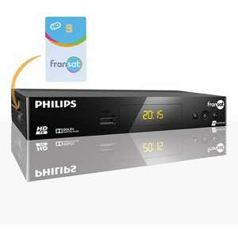Récepteur TV satellite HD Philips ME11992290 + Carte Fransat PC6 Eutelsat 5W