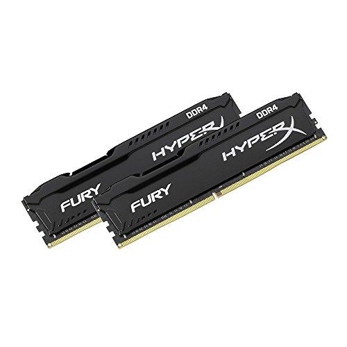 Kit Mémoire HyperX Fury - 2 x 8Go, DDR4, 2666MHz, CL16 DIMM XMP, Noir
