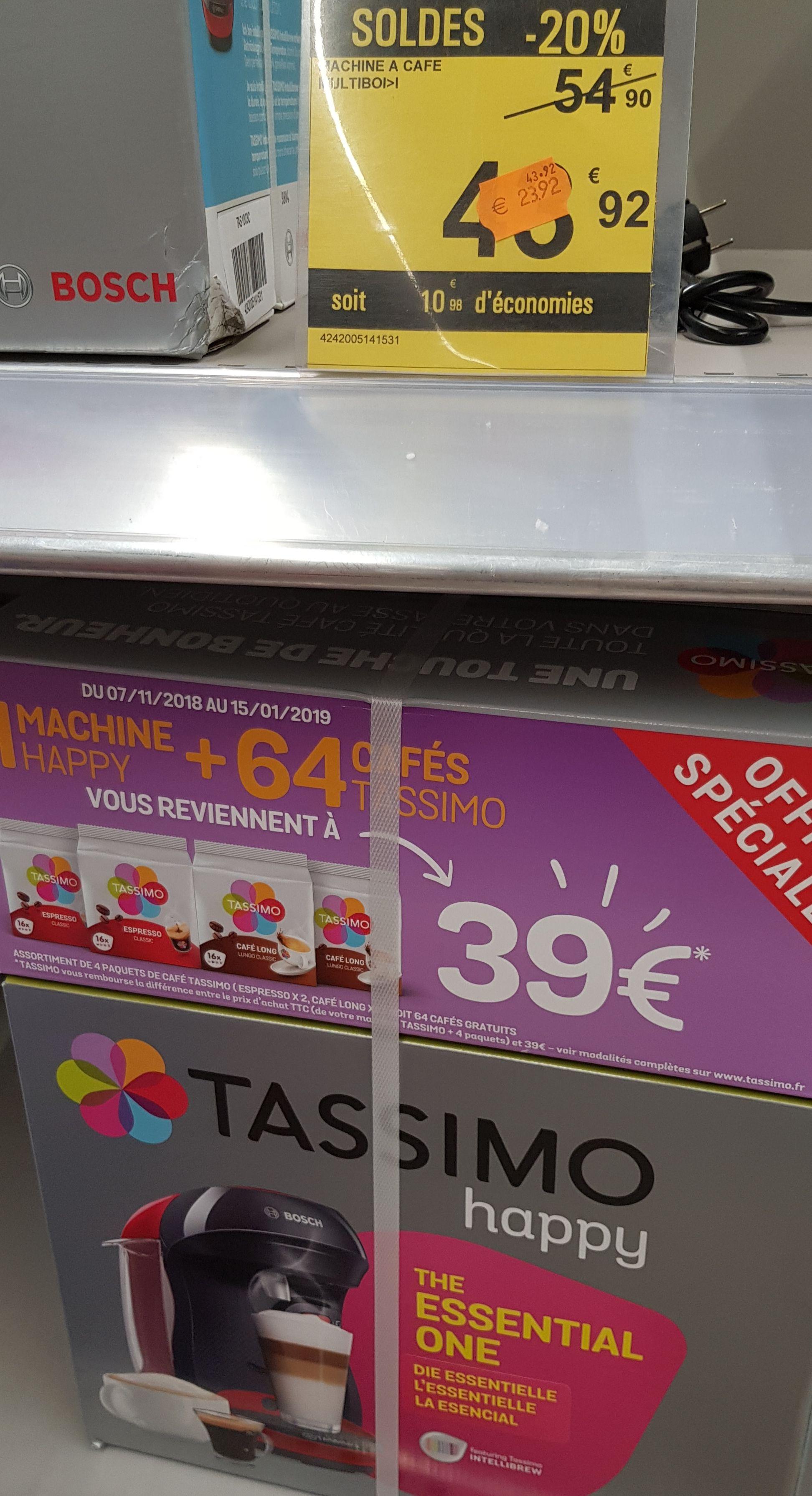 Pack Machine à café Bosch Tassimo Happy Tas100x + 4 paquets de café - Ecully (69)