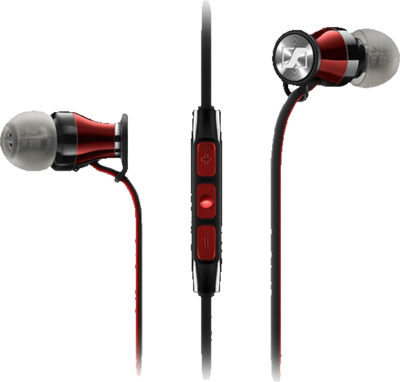 Écouteurs intra-auriculaires Sennheiser Momentum In-Ear G (M2) - avec télécommande et micro, version Android, noir / rouge