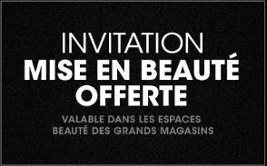 Mise en beauté offerte aux Galeries Lafayette ou au Printemps