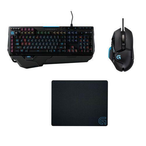Pack Gaming Logitech : Clavier mécanique G910 Orion Spark + Souris G502 Proteus Core + Tapis de souris G240 Cloth Gaming