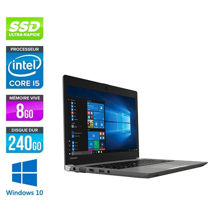 "PC Ultra-Portable 13.3"" Toshiba Portégé Z30T-A - i5-4200U, Windows 10 Pro, 8Go RAM, 240Go SSD, Full HD (Reconditionné)"