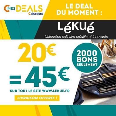 Bon d'achat de 45€ à dépenser chez Lékué.com
