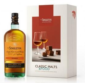 Coffret Whisky Singleton Sunray Classic Malts & Food (avec 2 verres + un livre de recettes)