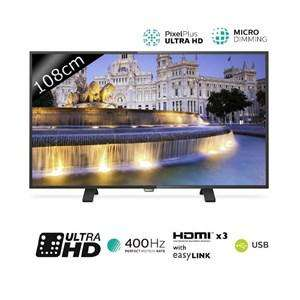 "TV 43"" Philips 43PUH4900 - LED - 4K - 400Hz PMR"