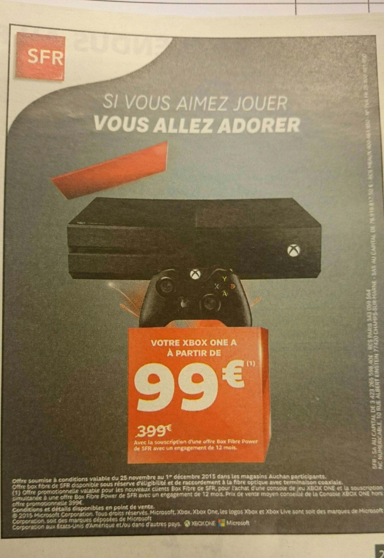 Pour toute souscription d'une offre Box Fibre Power de SFR, une console Xbox One