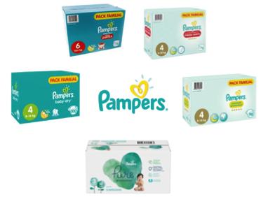 Pack Familial de Couches ou Couche-Culottes Pampers  - Tailles au choix (Via Carte de Fid. + BDR)