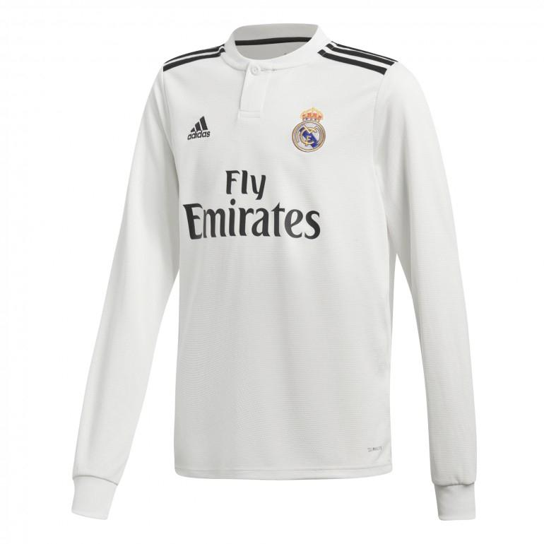 Maillot adidas du Real Madrid manche longue pour enfant (Différentes tailles)