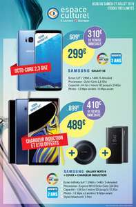 """Pack Smartphone 6.4"""" Samsung Galaxy Note 9 (QHD+, Exynos 9810, RAM 6 Go, ROM 128 Go) + Chargeur à induction + Etui Cover - Quimper (29)"""