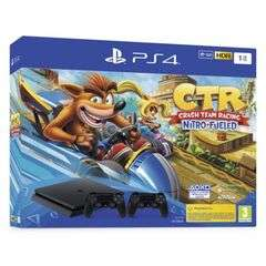 Sélection de Pack Console PS4 en Promotion - Ex: Slim 1 To + Crash Team Racing Nitro-Fueled + 2ème Manette + 1 jeu offert