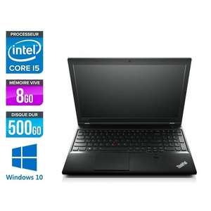 "PC Portable 15.6"" Lenovo Thinkpad L540 - HD, Core i5-4300M, 8Go RAM DDR3, HDD 500Go, Win 10 (Reconditionné)"