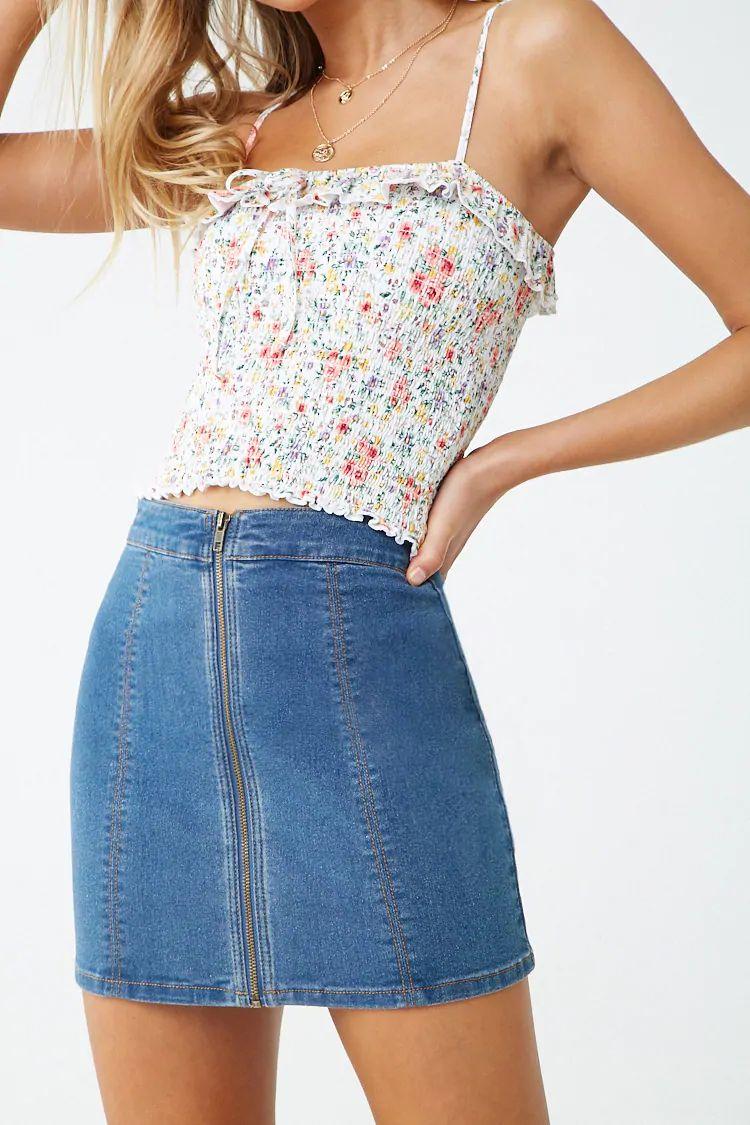 50% de réduction sur une sélection d'articles - Ex : Mini-jupe zippée en jean