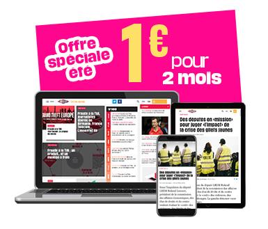 Abonnement de 2 mois au journal numérique Libération pour 1€ - sans engagement