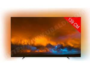 "TV 55"" Philips 55OLED804 - 4K, Dolby vision et atmos, Ambilight 3 côtés, android TV"