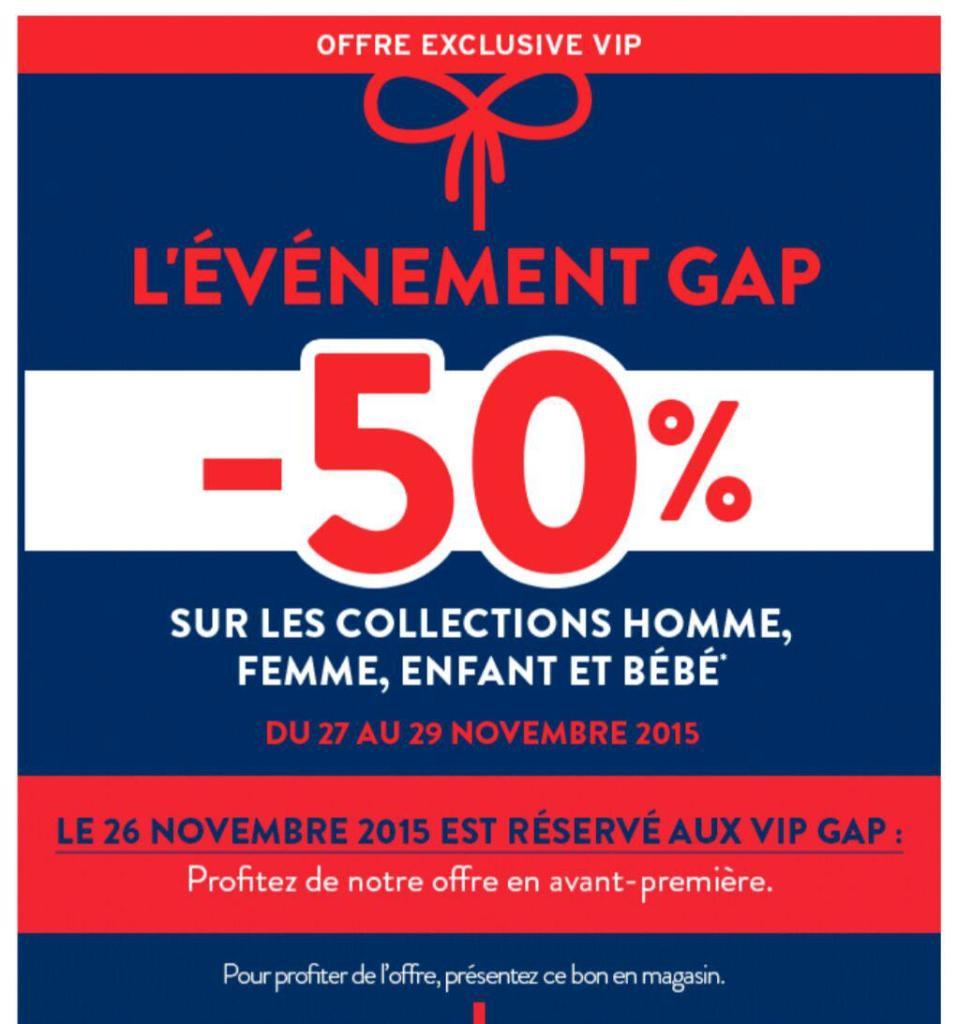 50% de réduction sur les collection Homme, Femme, enfant et bébé