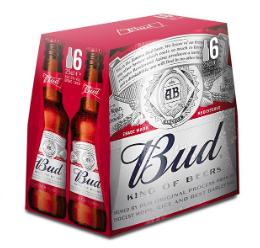 Lot de 2 packs de 6 bières Budweiser - 2x6x25 cl (Via Shopmium et CouponNetwork)
