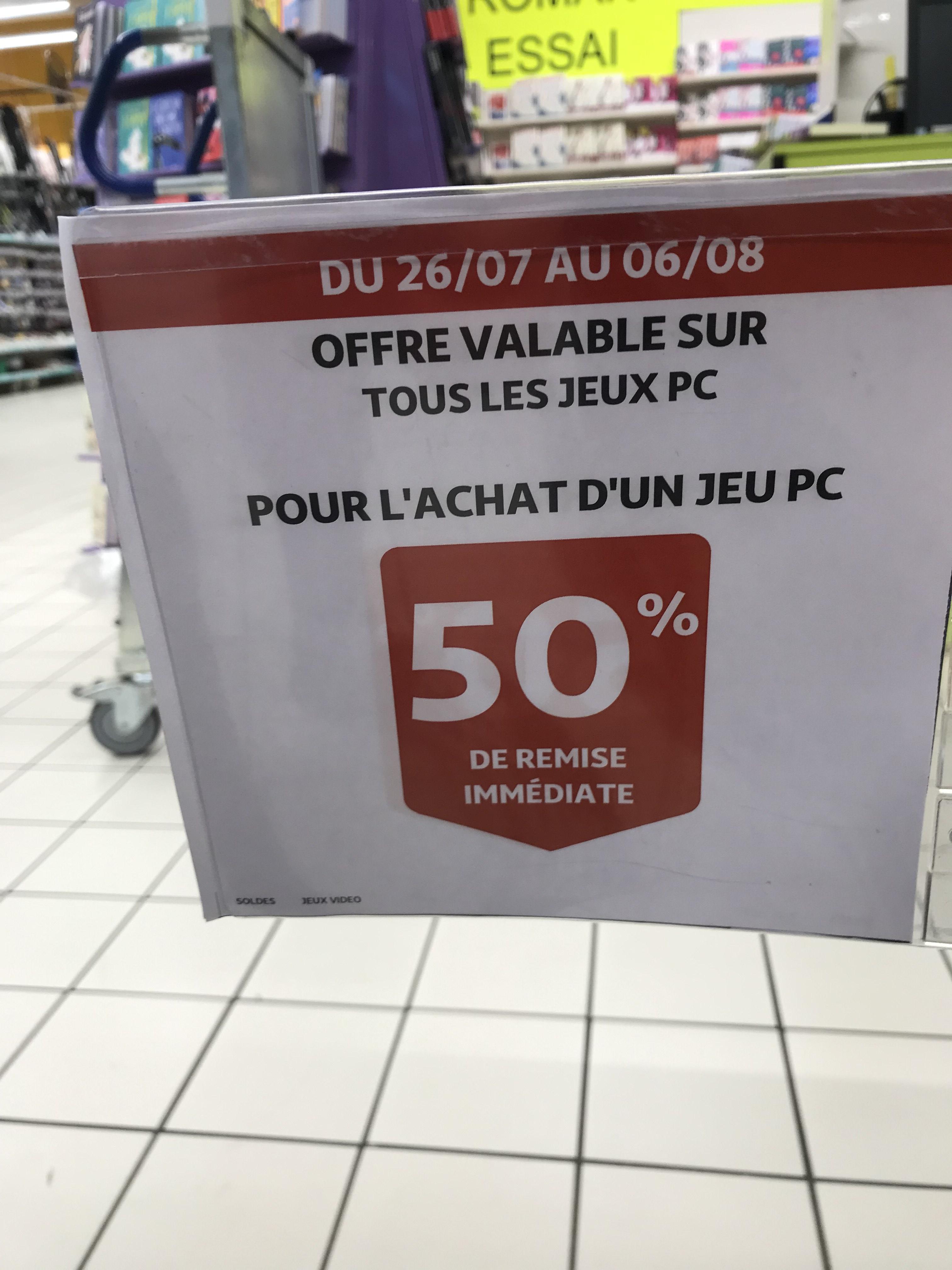 Sélection de jeux PC à 50% de réduction - Ex : Resident Evil 2 (Auchan Sète 34)