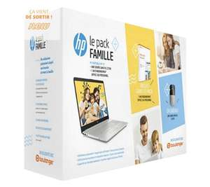 """Pack PC Portable 15.6"""" HP 15-dw0034nf (Full HD, i3-8145U, 8 Go RAM, 128 Go SSD, 1 To HDD) + Office 365 + Souris"""